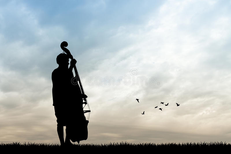 Mann mit Cello vektor abbildung