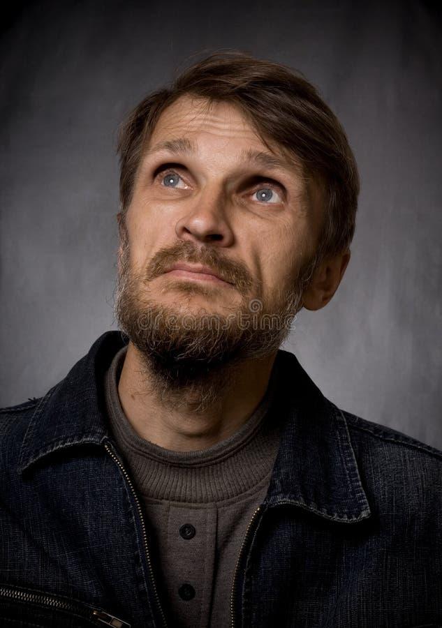 Mann mit einem Bart lizenzfreies stockbild