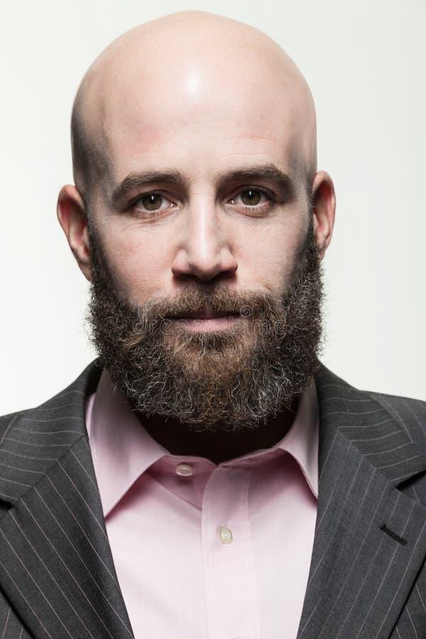 Mann mit einem Bart, Porträt lizenzfreies stockbild