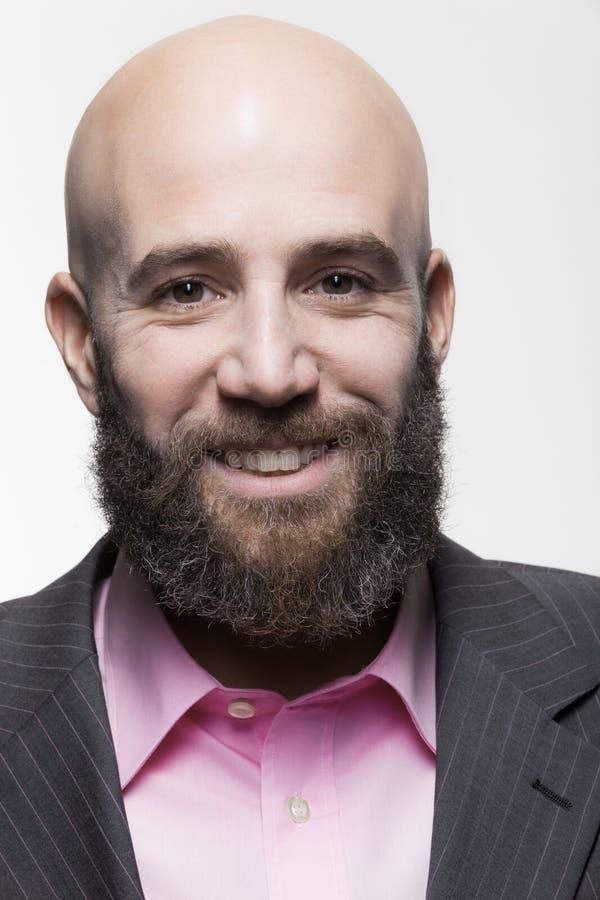 Mann mit einem Bart, Porträt stockfoto