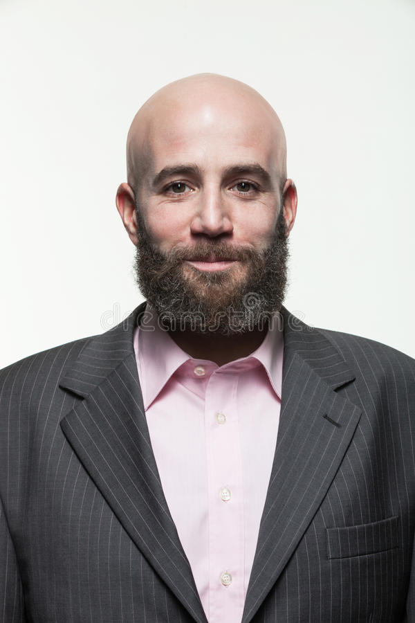 Mann mit einem Bart, Porträt stockfotos