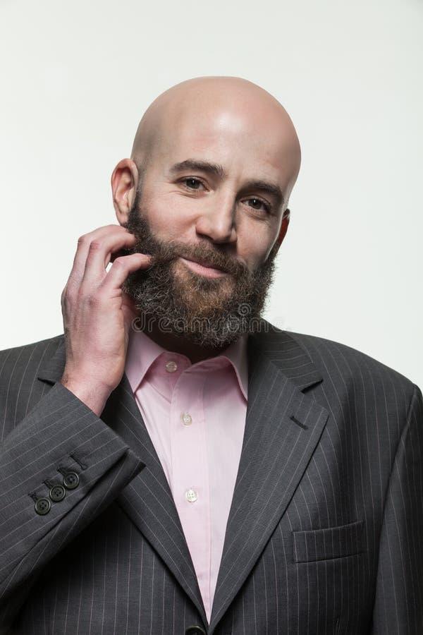 Mann mit einem Bart, Porträt lizenzfreie stockfotos
