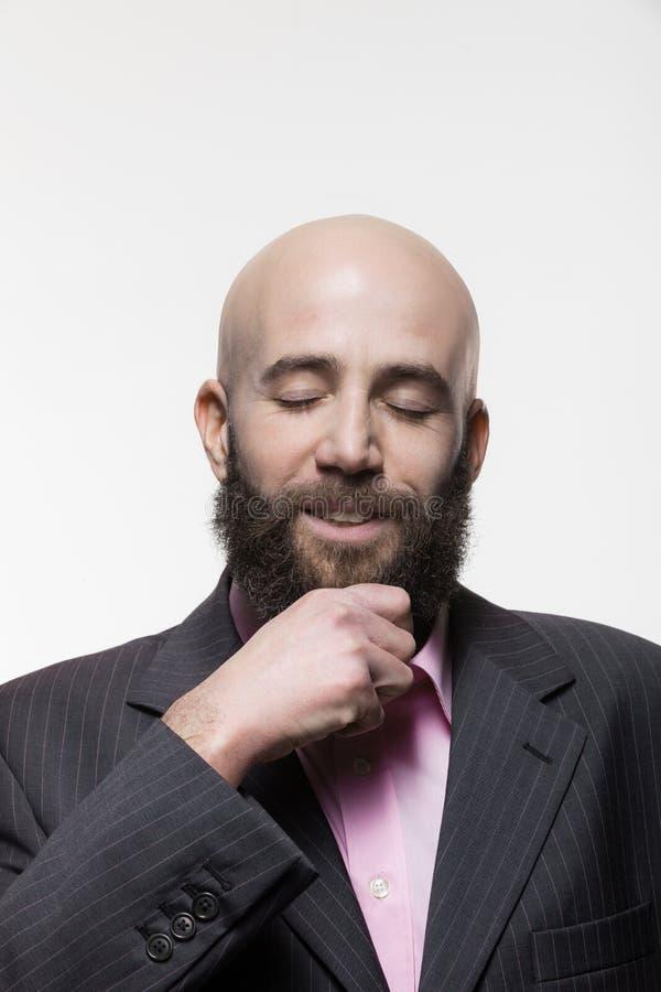Mann mit einem Bart, Porträt stockbilder