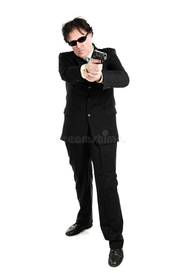 Mann mit einem Gewehr lizenzfreie stockfotografie
