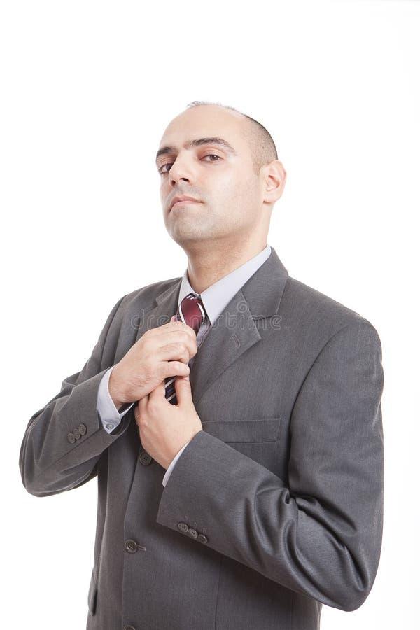 Mann mit einer Gleichheit stockfotografie