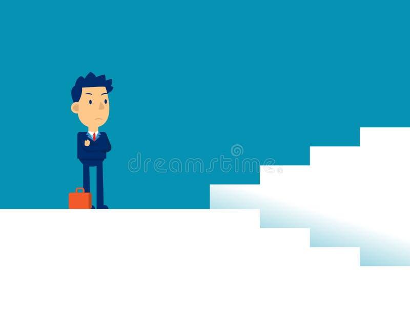 Mann mit Entscheidungen Konzepte für die Darstellung von Geschäftsrichtungen, Strategie, flacher Kid-Business-Cartoon stock abbildung