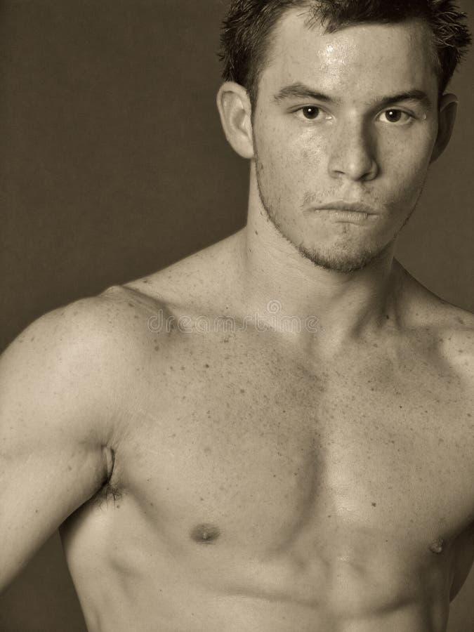 Mann mit Freckles lizenzfreie stockfotografie
