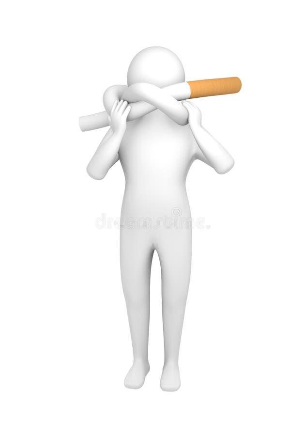 Mann mit geknoteter Zigarette vektor abbildung