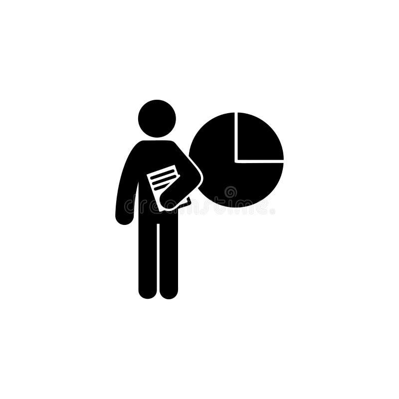 Mann mit Geschäftsgradikone Element des Mannes mit Studentengradikone für bewegliche Konzept und Netz apps Glyphgeschäftsgrad kan vektor abbildung