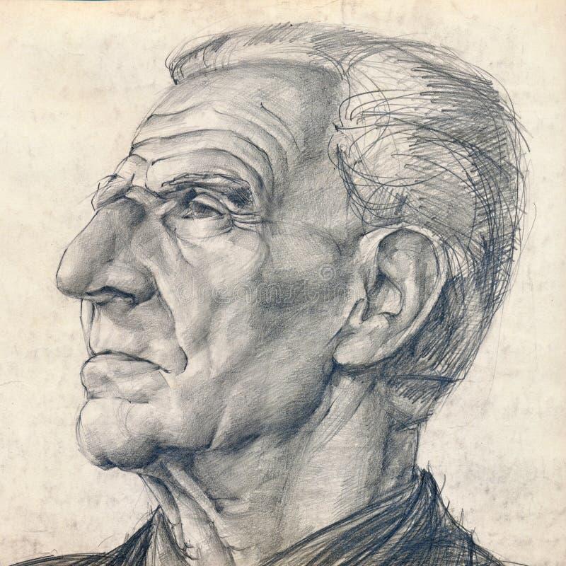 Mann mit großer Wekzeugspritze lizenzfreie abbildung