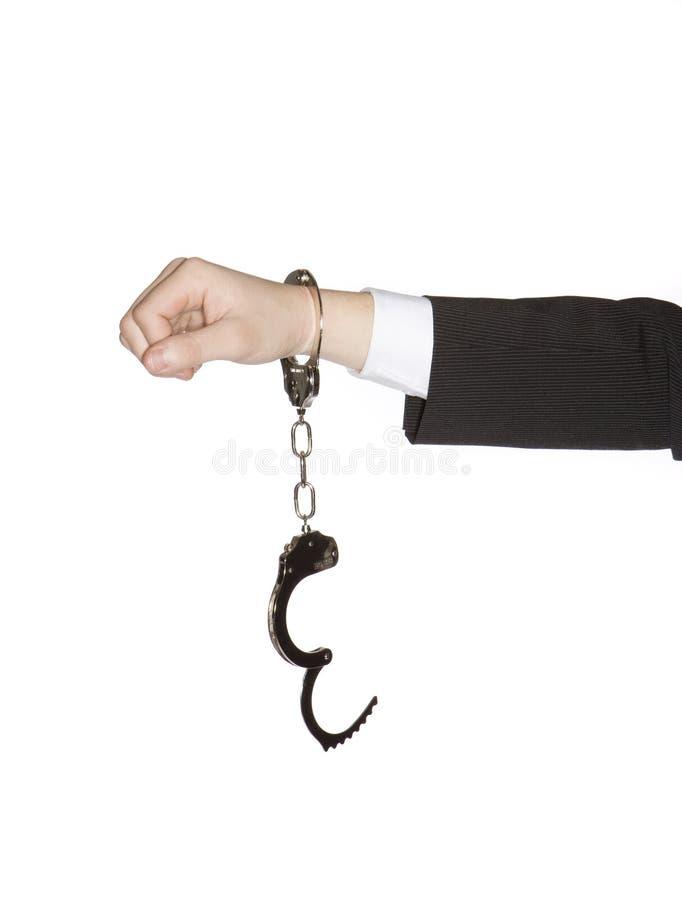 Mann mit Handschellen lizenzfreie stockfotografie
