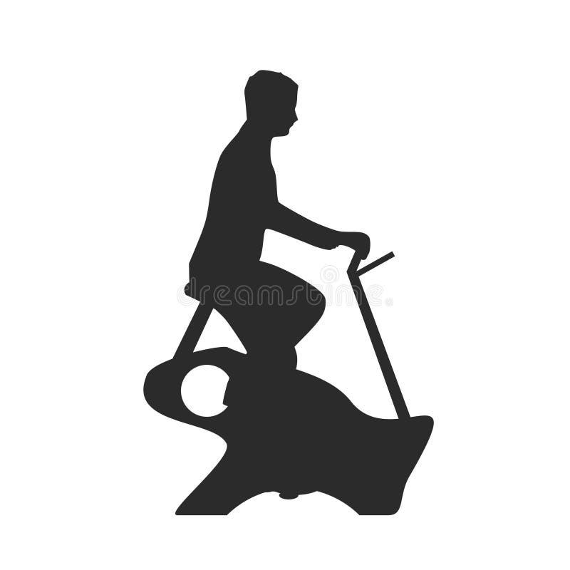 Mann mit Hometrainer vektor abbildung