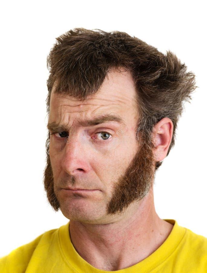 Mann mit Koteletten stockbild. Bild von sideburns, hemd