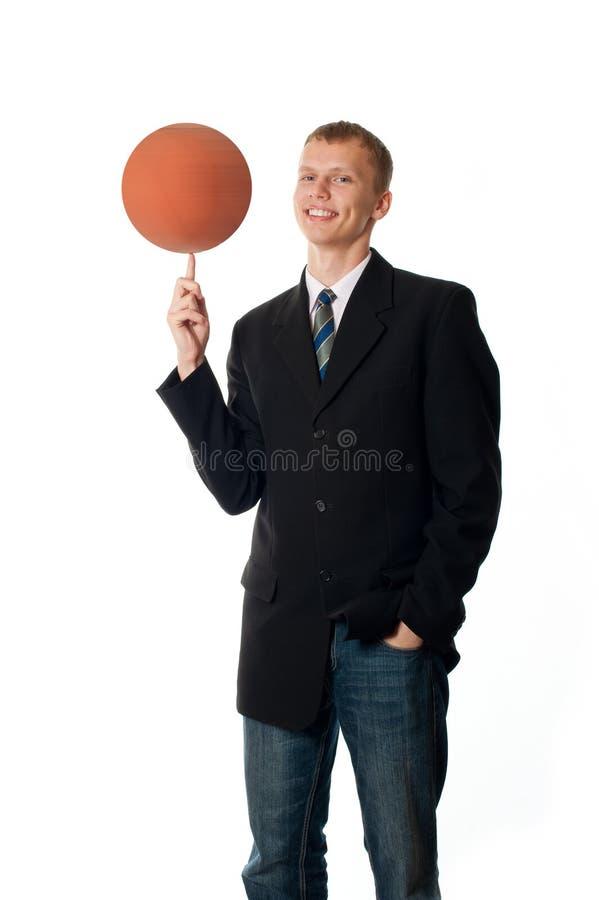 Mann mit Kugel lizenzfreies stockbild