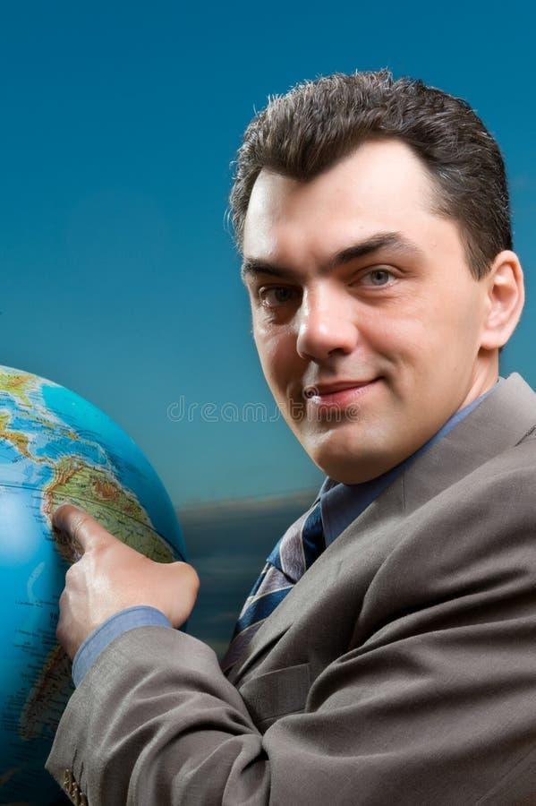 Mann mit Kugelabschluß oben lizenzfreie stockbilder