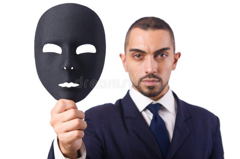 Mann Mit Maske Lizenzfreies Stockbild
