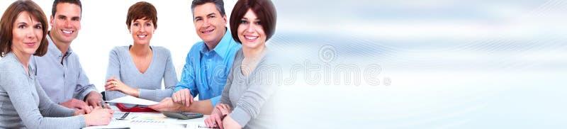 Mann mit Megaphon, Dame mit Kaffee stockfoto