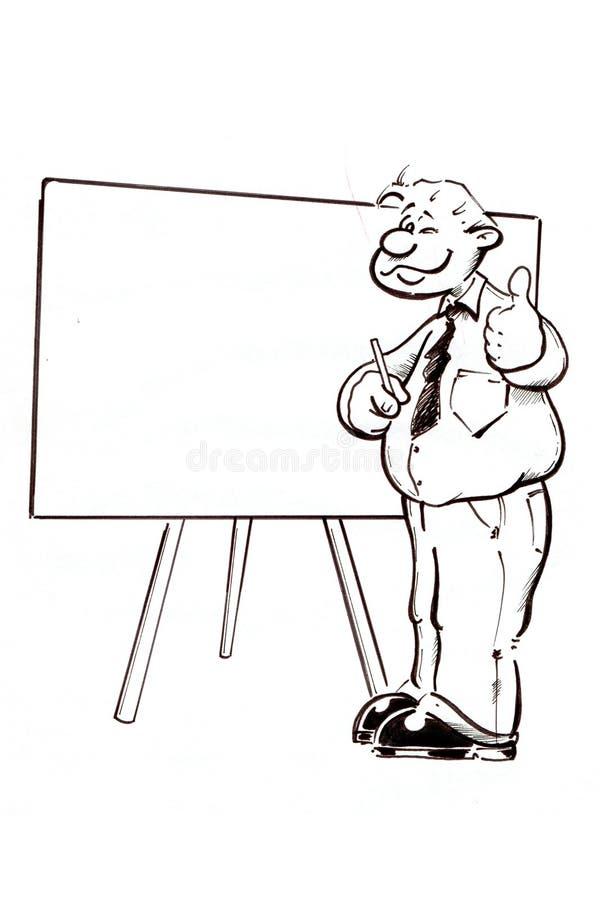 Mann mit Nadelanzeige lizenzfreie abbildung