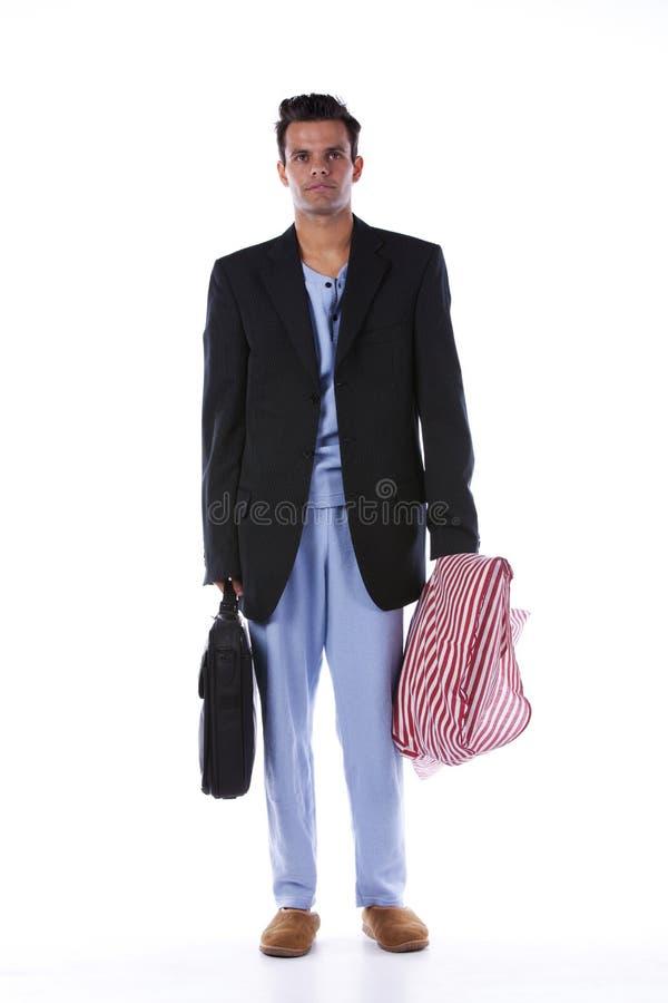 Mann mit nightclothes stockfotografie