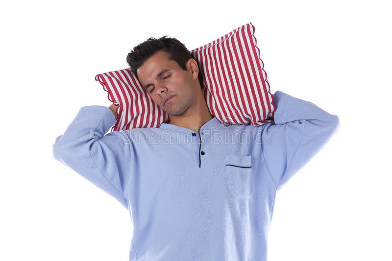 Mann mit nightclothes lizenzfreies stockfoto