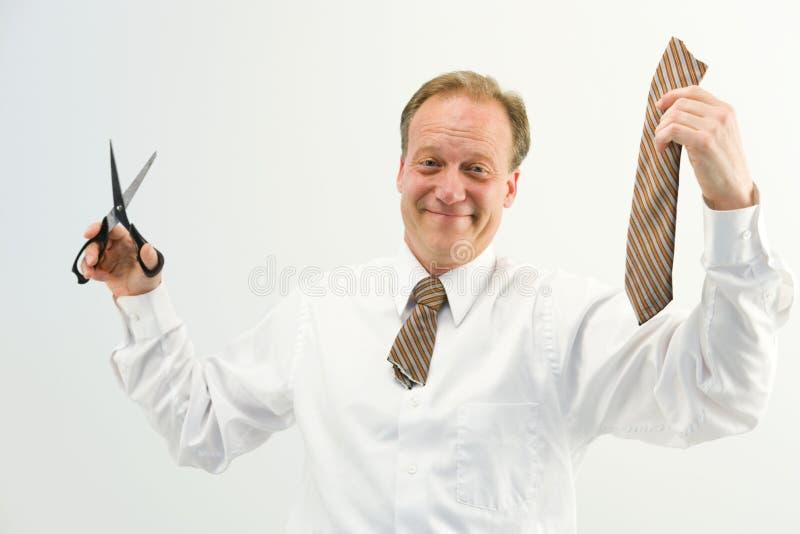 Mann mit Schnittgleichheit lizenzfreie stockfotos