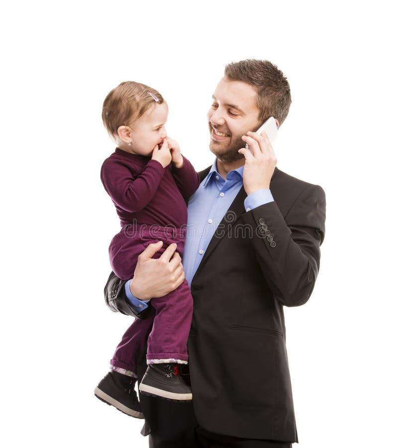 Mann mit seinem Baby lizenzfreies stockbild