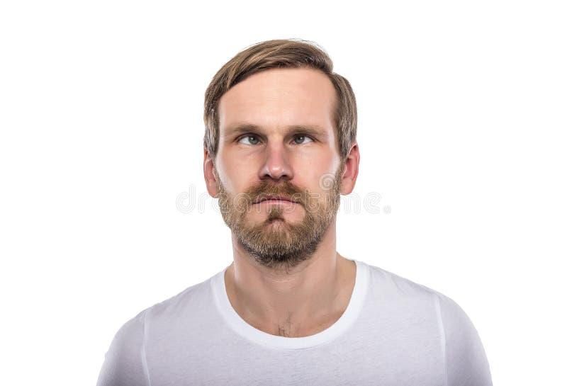 Mann mit seinen Augen gekreuzt lizenzfreies stockfoto