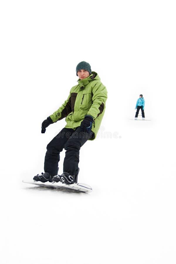 Mann mit Snowboard lizenzfreies stockfoto
