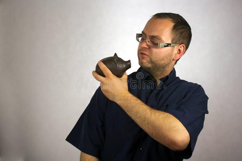 Mann mit Strengen von Leben lizenzfreie stockbilder