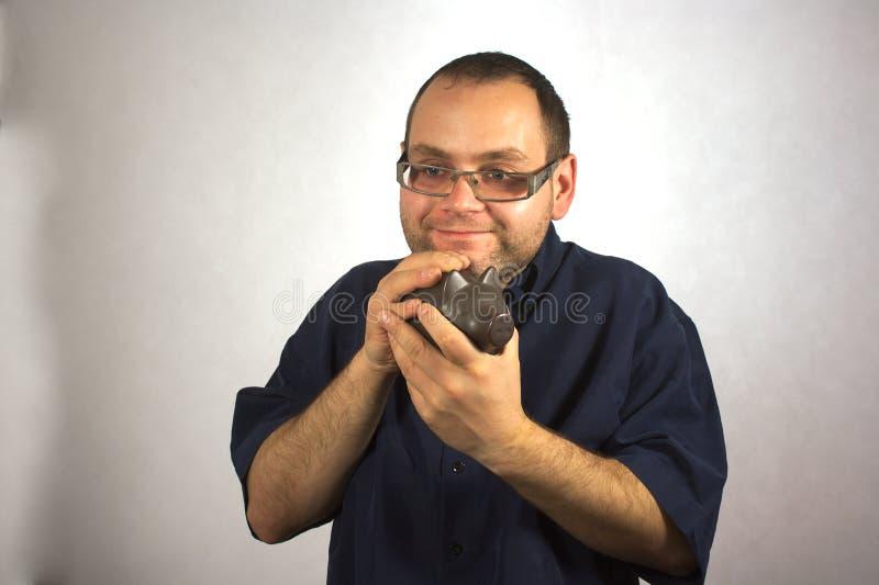 Mann mit Strengen von Leben lizenzfreies stockfoto