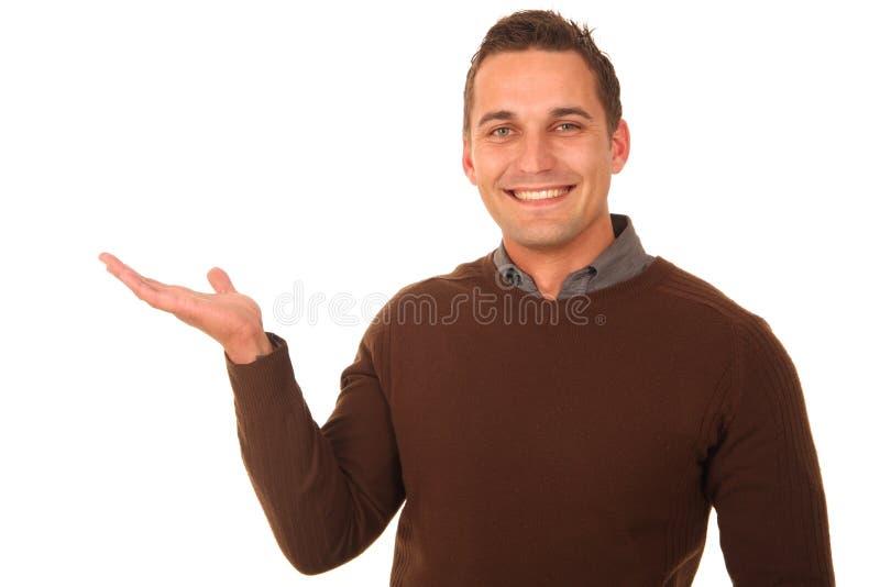 Mann mit teilen aus stockfoto