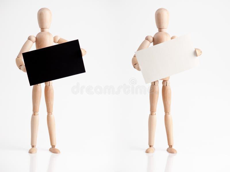 Mann mit Zeichen stockfotografie