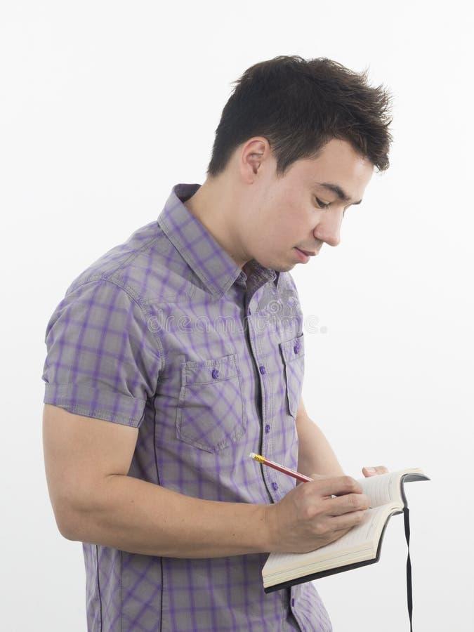 Mann nehmen Kenntnisse lizenzfreies stockfoto