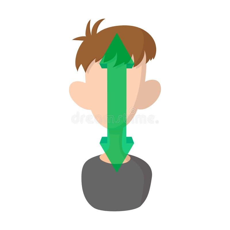 Mann nickt JA Ikone, Karikaturart vektor abbildung