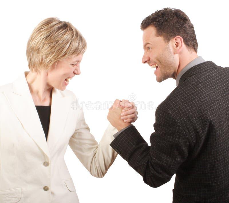 Mann oder Frau - Konkurrenz stockbilder