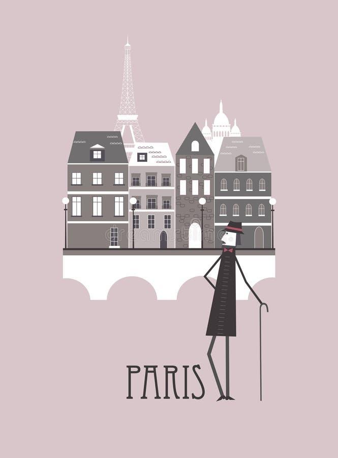 Mann In Paris Stockbilder