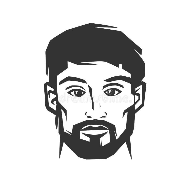 Mann ` s Gesicht mit Bart vektor abbildung