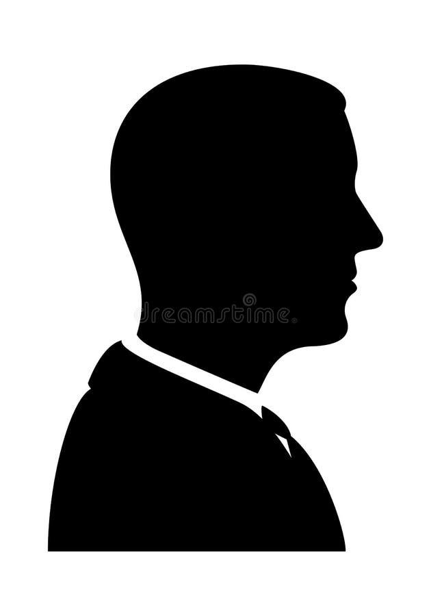 Mann-Schattenbild-Profil-Ansicht stock abbildung