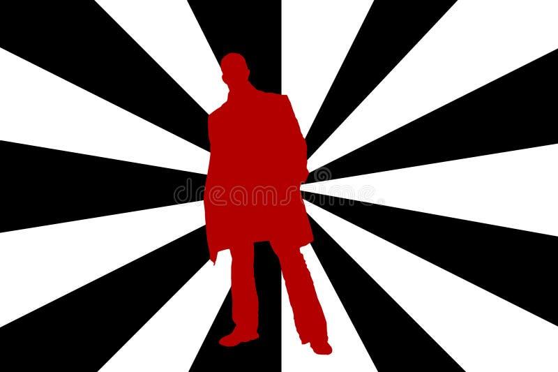 Mann silhouete vektor abbildung