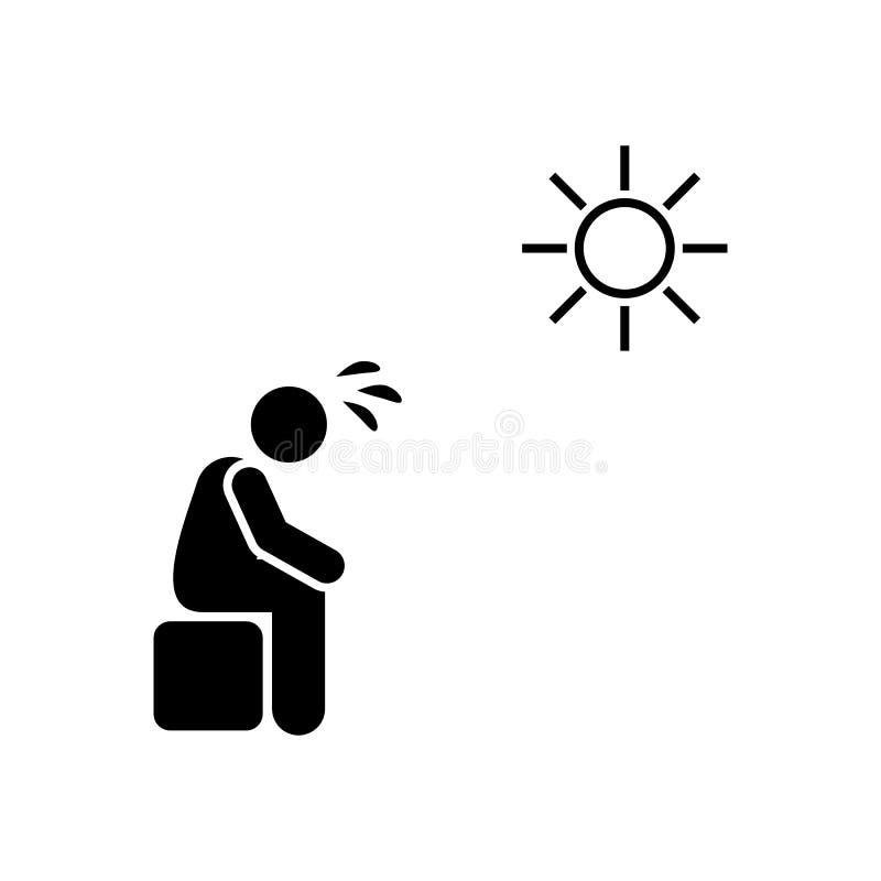 Mann, Sonne, empfindliche, aggressive Ikone Element von K?rper-lupu Ikone Erstklassige Qualit?tsgrafikdesignikone Zeichen und Sym vektor abbildung