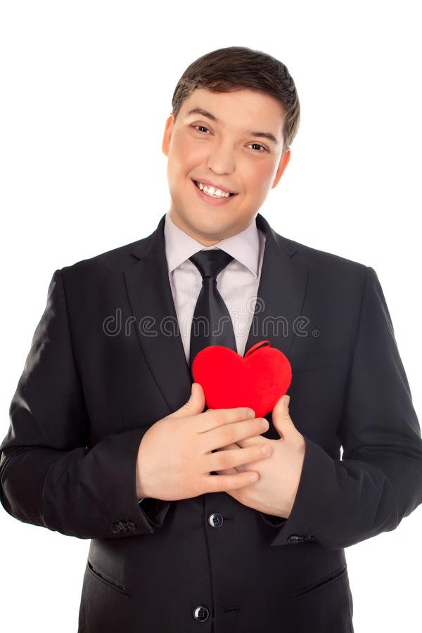 Download Mann Stellt Inneres Im Valentinstag Dar Stockbild   Bild: 28862435