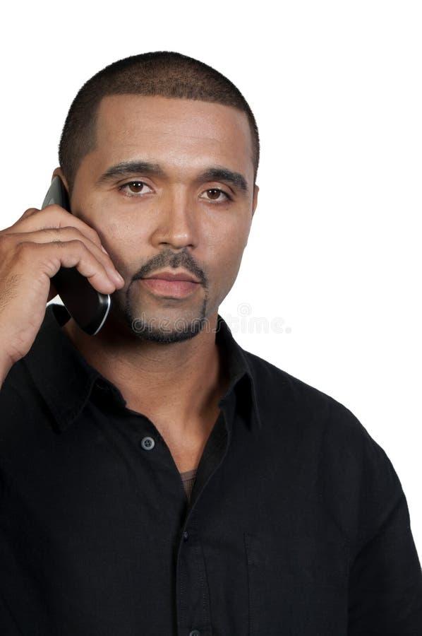 Mann am Telefon stockfoto