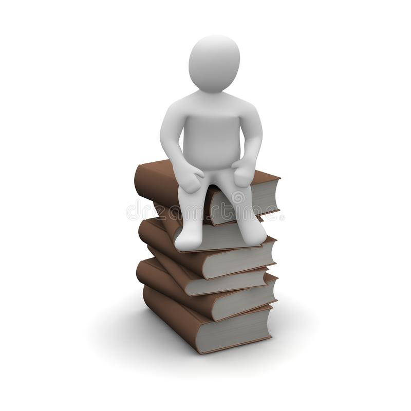 Mann und Bücher stock abbildung