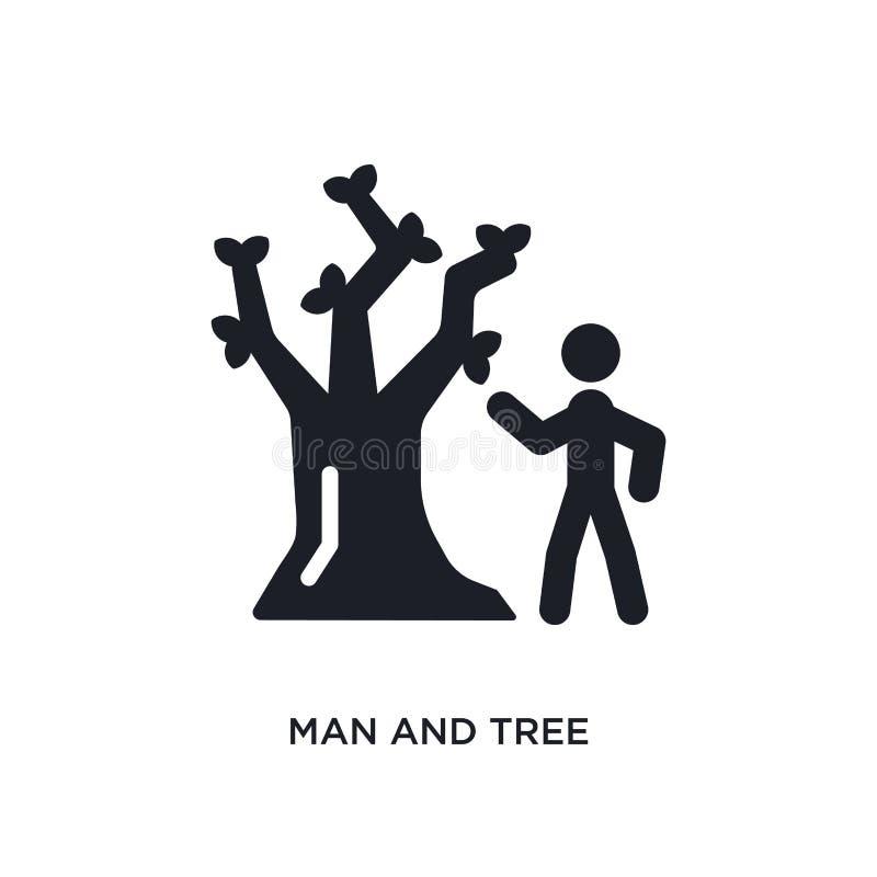 Mann und Baum lokalisierte Ikone einfache Elementillustration von den entscheidenden glyphicons Konzeptikonen editable Logozeiche lizenzfreie abbildung