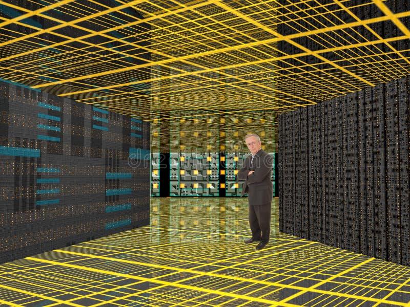 Mann und Computer lizenzfreie stockfotografie
