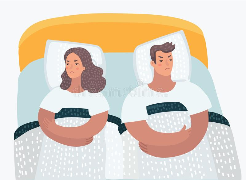 Mann und eine Frau beleidigten sich stock abbildung