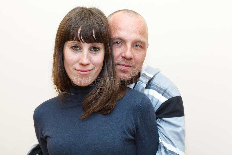 Mann und Frau ein liebevolles Paar zusammen lizenzfreie stockbilder