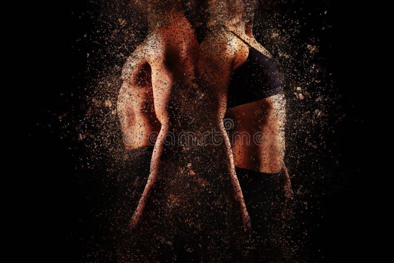 Mann und Frau mit perfekten muskulösen oberen Körpern stockfotos