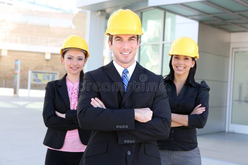 Mann-und Frauen-Architekten-Team stockfoto