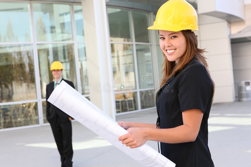 Mann-und Frauen-Aufbau lizenzfreie stockbilder